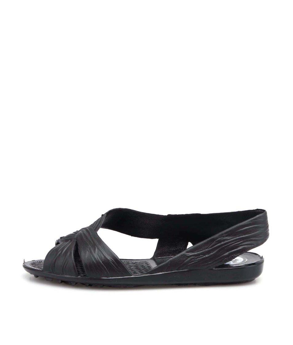Černé plastové sandálky JuJu Fergie