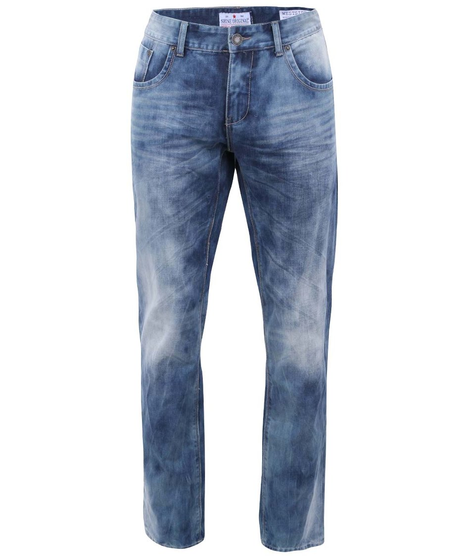 Modré šisované džíny Shine Original Westside