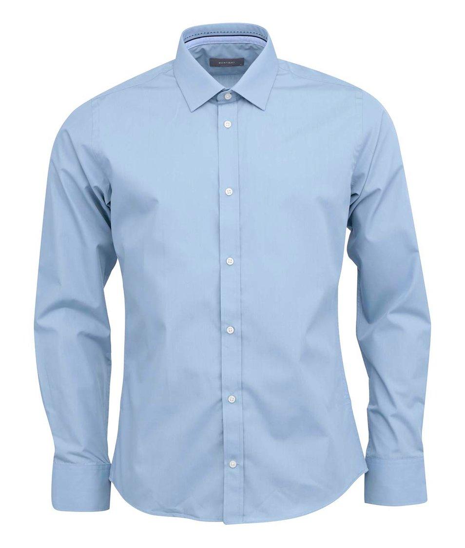 Světle modrá klasická košile Bertoni Slim Fit