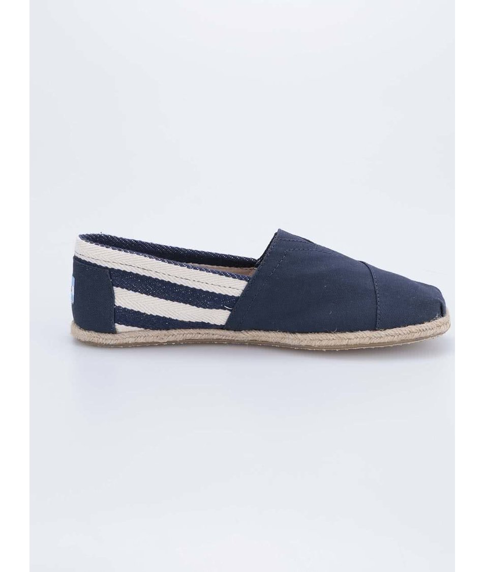 Tmavě modré pánské loafers s pruhy Toms University