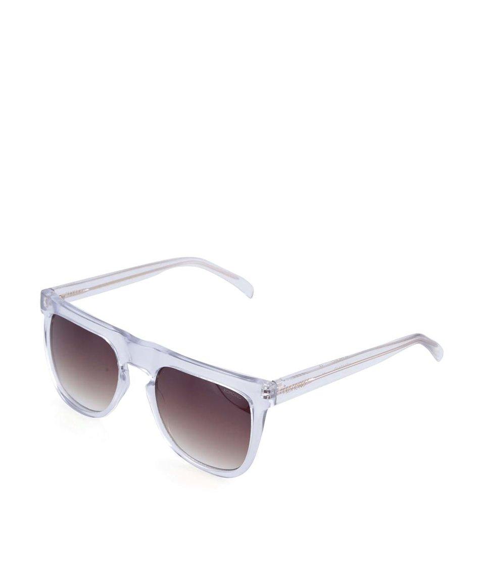 Transparentní hranaté unisex sluneční brýle Komono Bennet