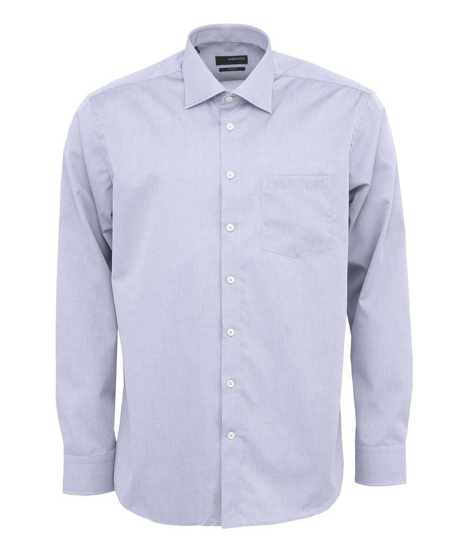 Šedá košile Seidensticker Kent Classic Patch 98 Regular Fit