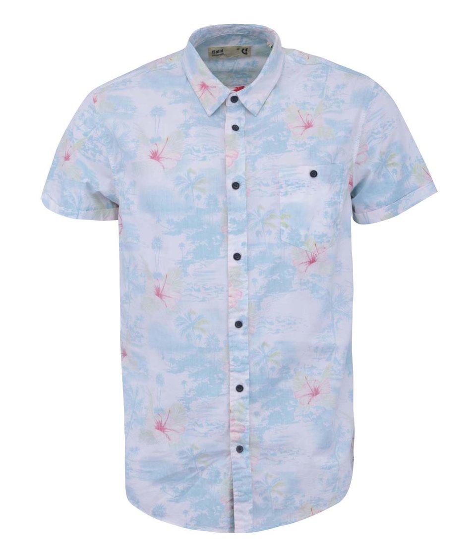 Bílá košile se světle modrým potiskem !Solid Nihad