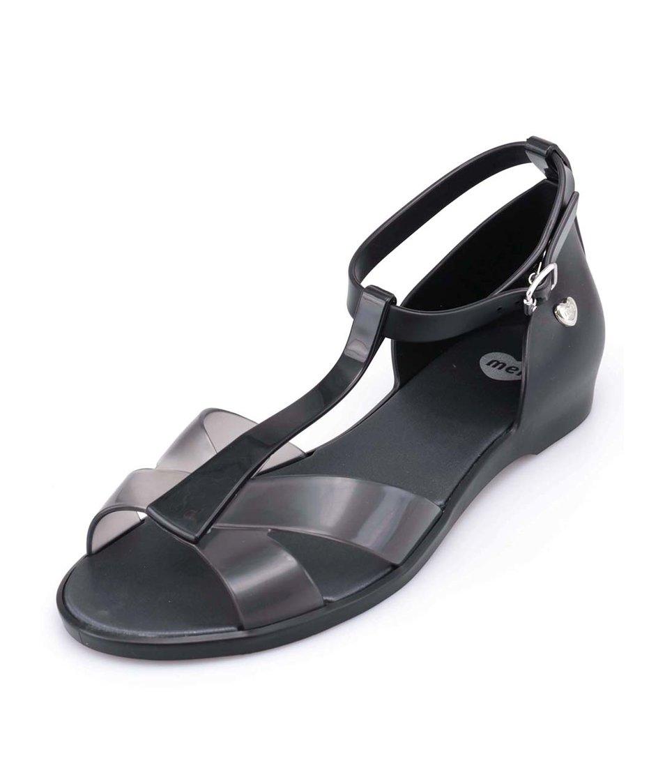 Černé plastové sandálky Mel Dance