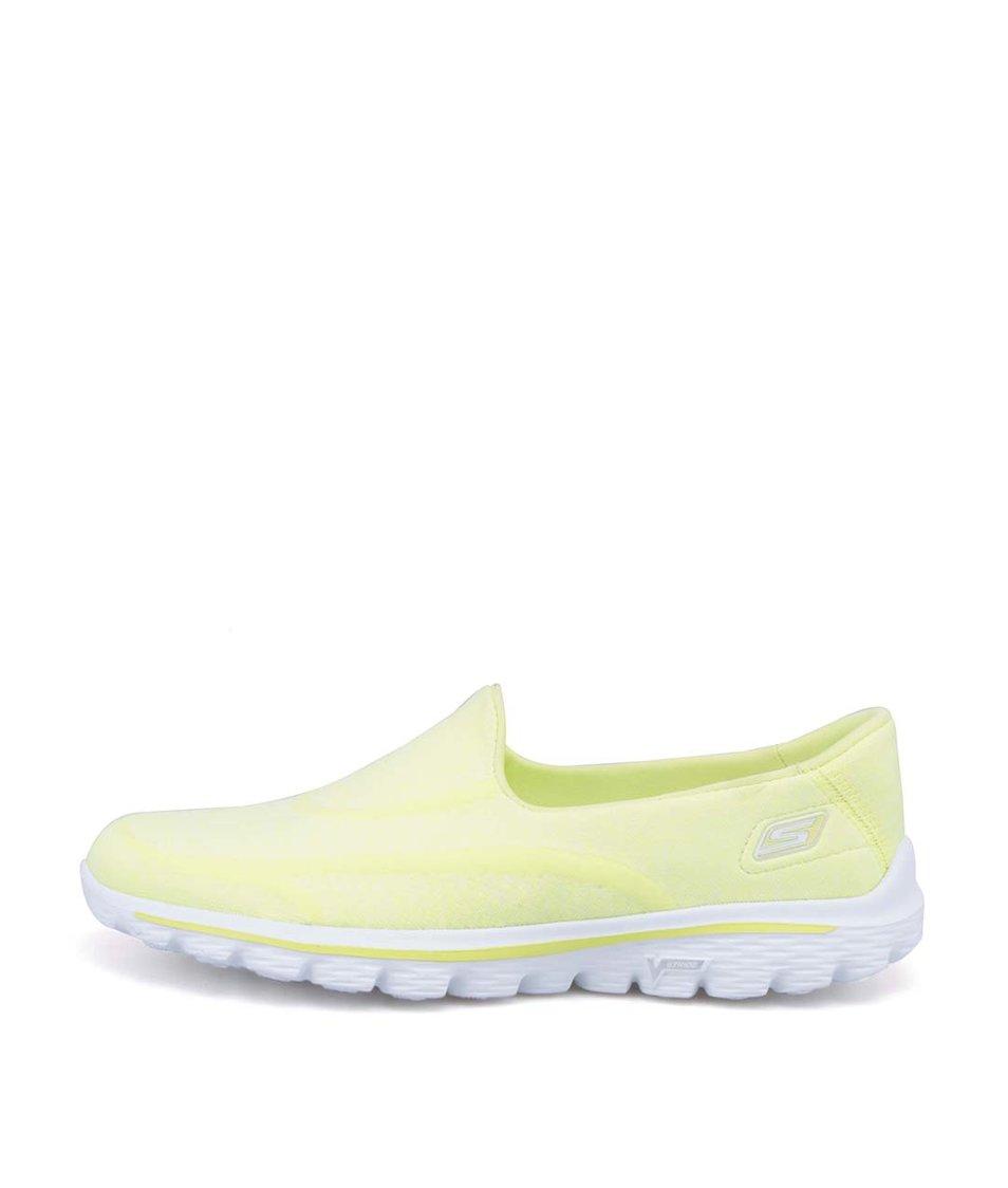 Žluté slip on tenisky Skechers