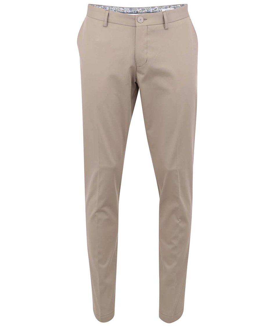 Béžové pánské chinos kalhoty Bertoni