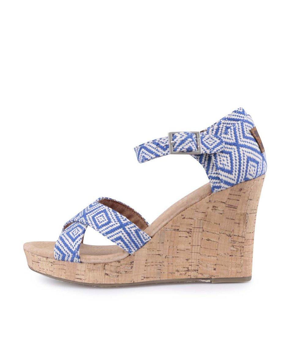 Modré sandálky na klínku TOMS