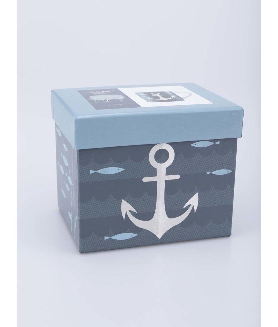 Porcelánový hrnek s dárkovou krabičkou Magpie Anchor