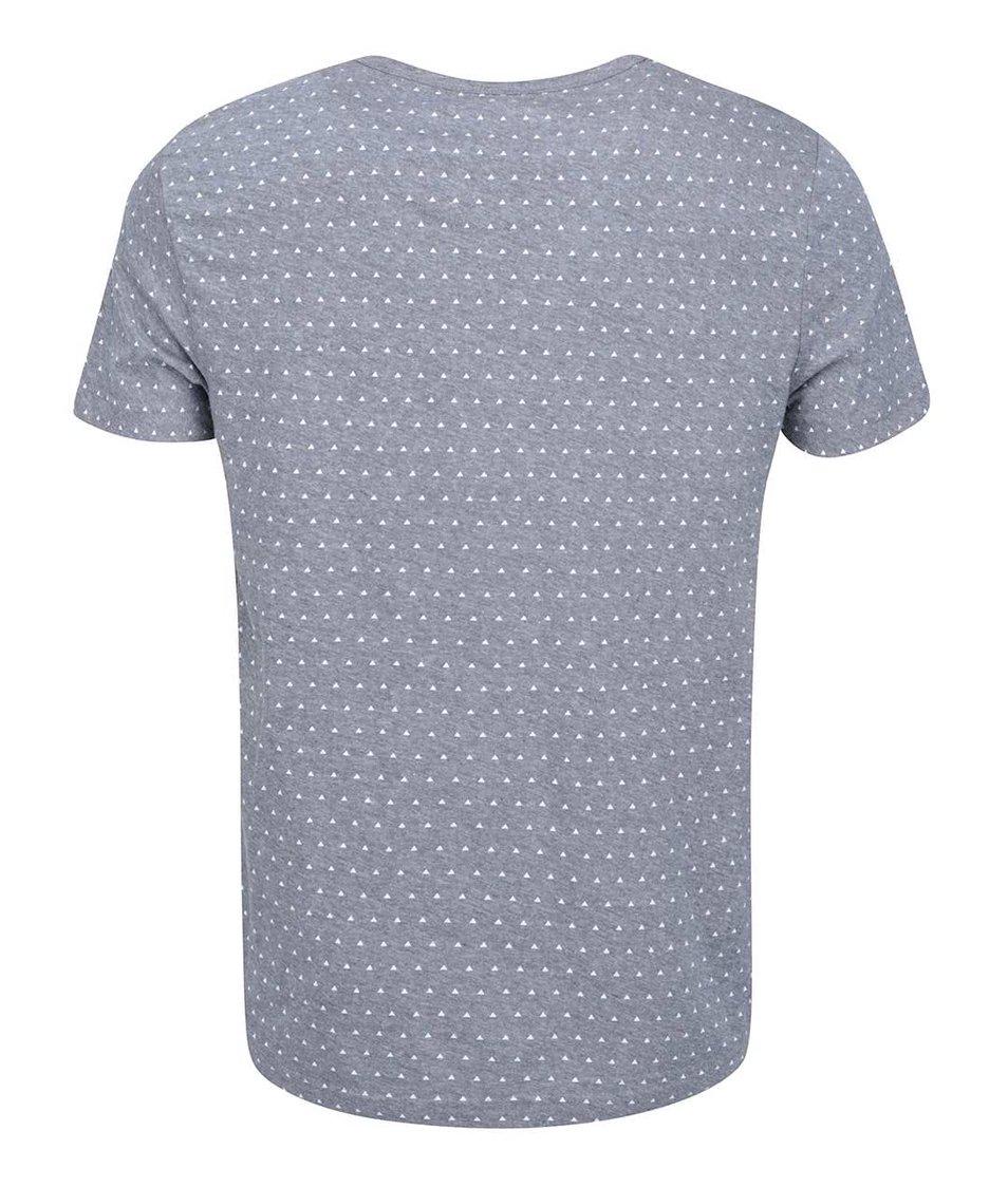 Šedé pánské triko se vzorem Bellfield Cullen