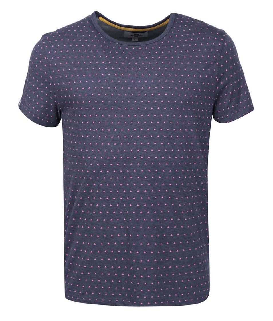 Modré pánské triko se vzorem Bellfield Cullen