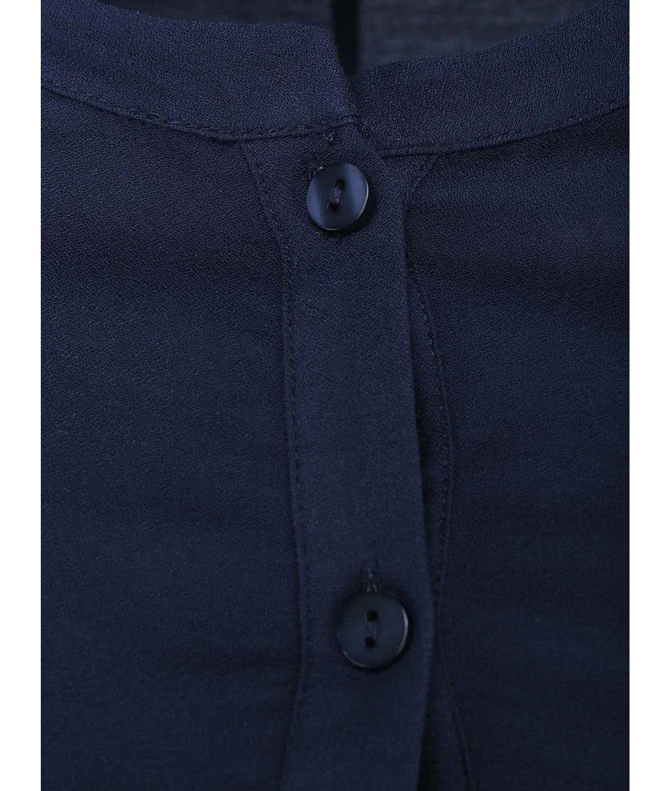 Tmavě modré šaty s krátkým rukávem VILA Vitter