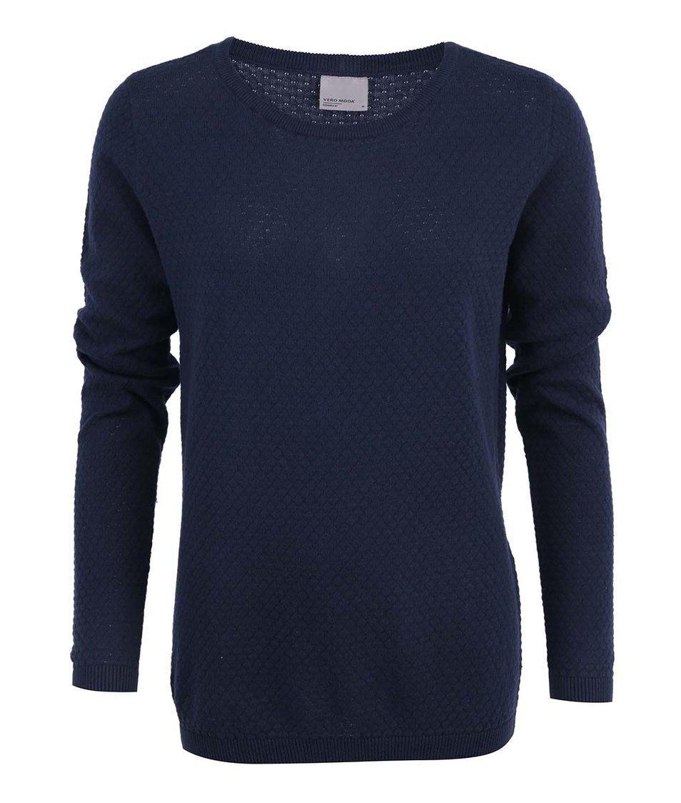 Tmavě modrý vzorovaný svetr Vero Moda Care