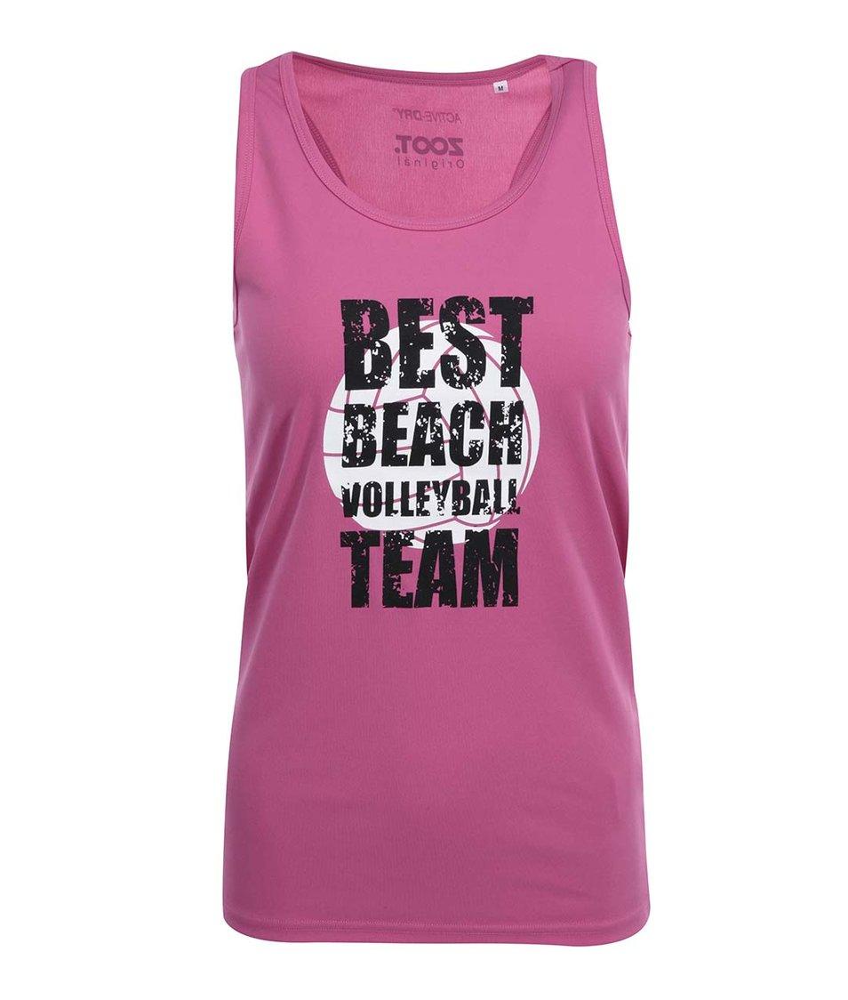 Růžové dámské tílko ZOOT Originál Volleyball