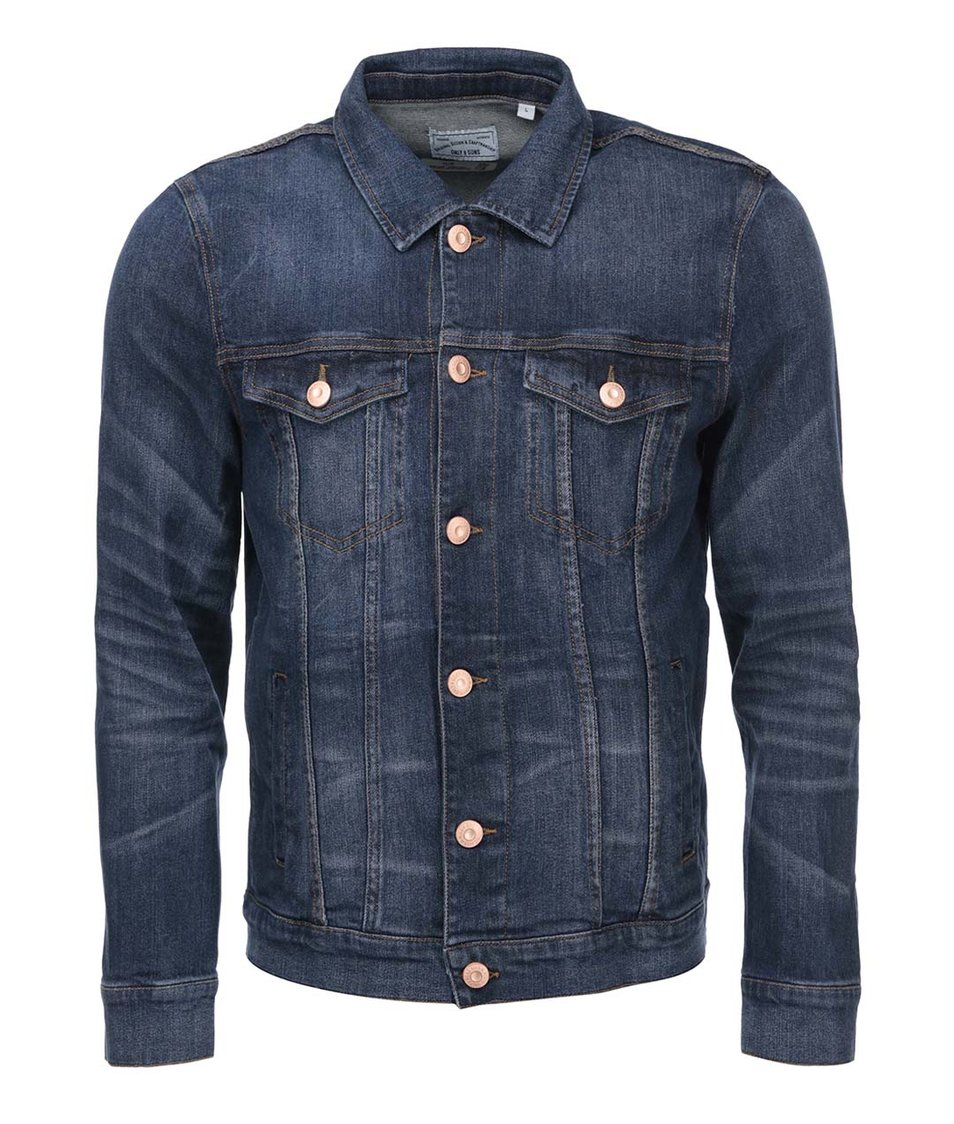 Modrá džínová bunda ONLY & SONS Torn