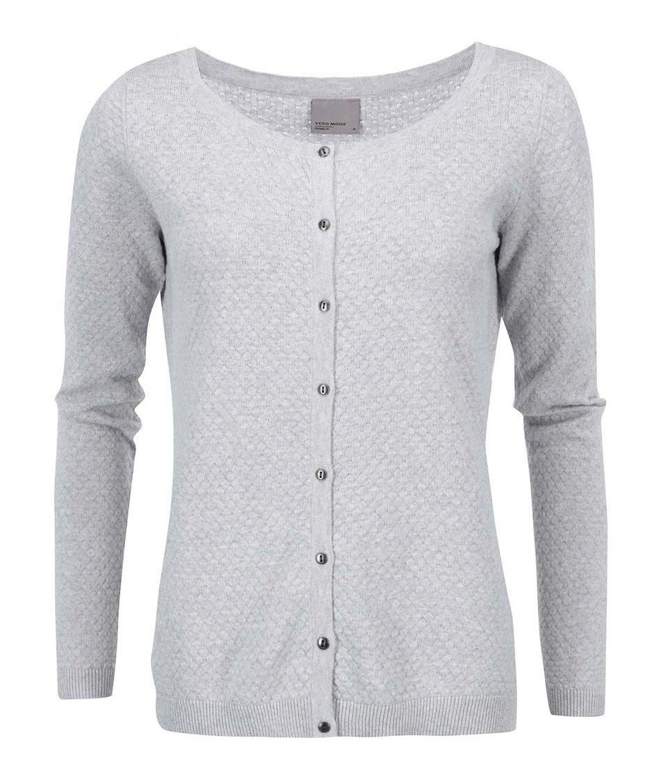 Světle šedý cardigan Vero Moda Care