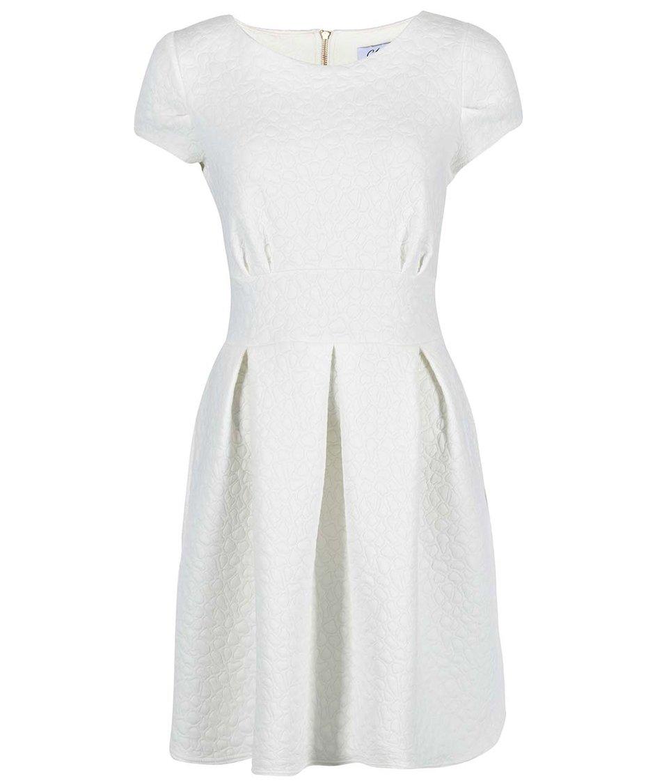 Krémové šaty se struktorovaným vzorem Closet