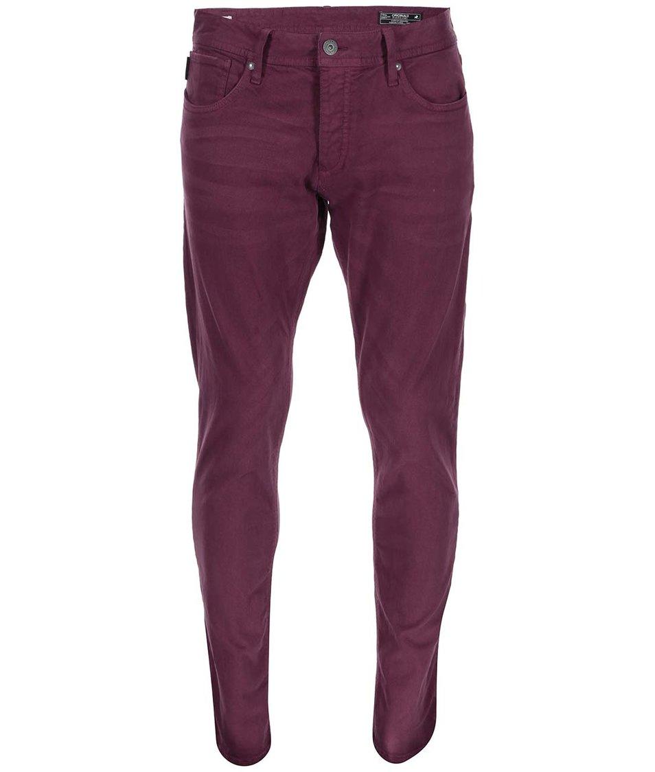 Vínové slim fit kalhoty Jack & Jones Glenn