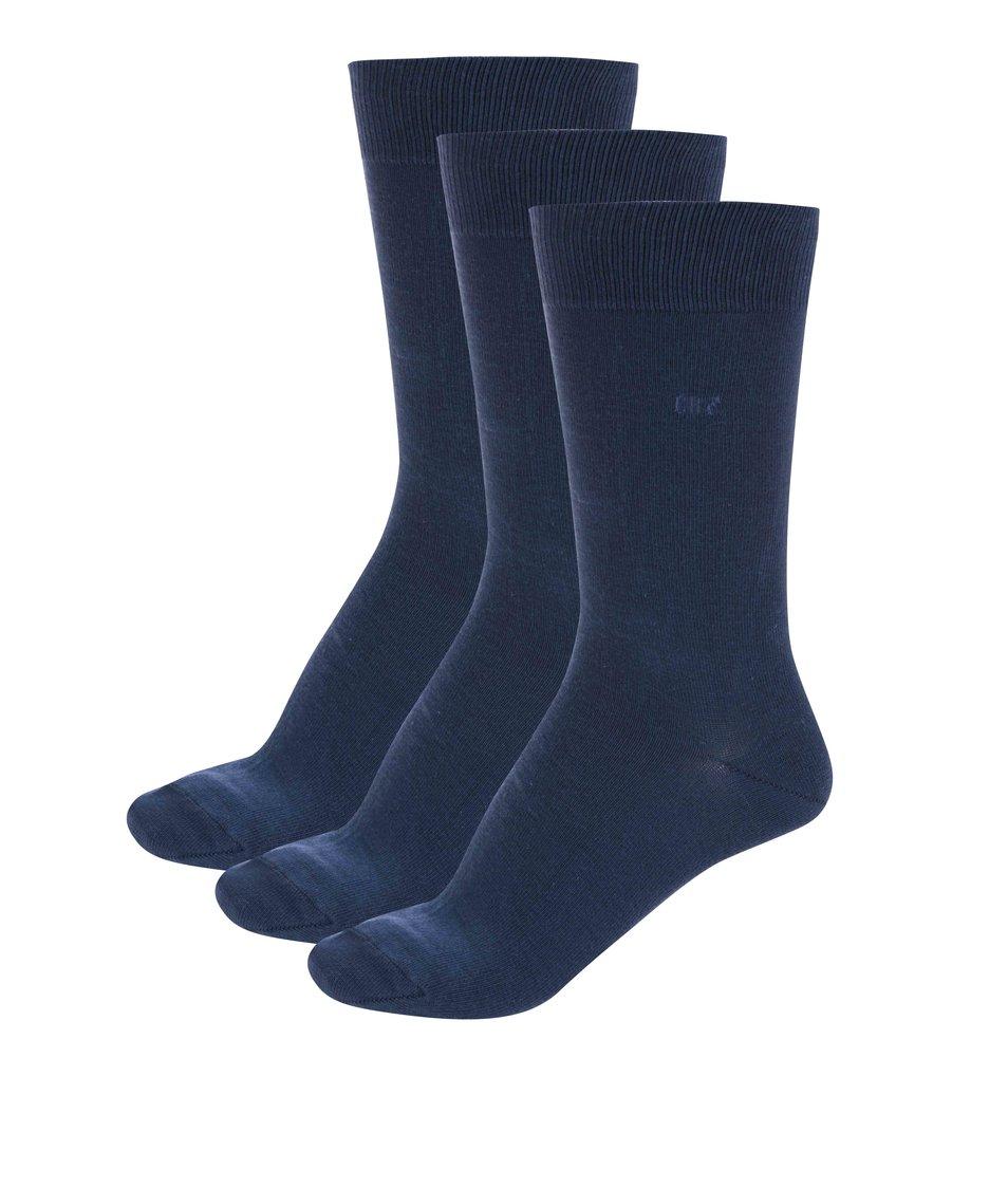Sada tří tmavě modrých ponožek CR7
