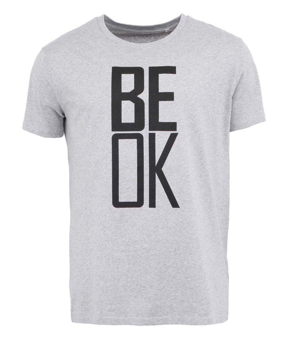 Šedé pánské triko ZOOT Originál Be OK