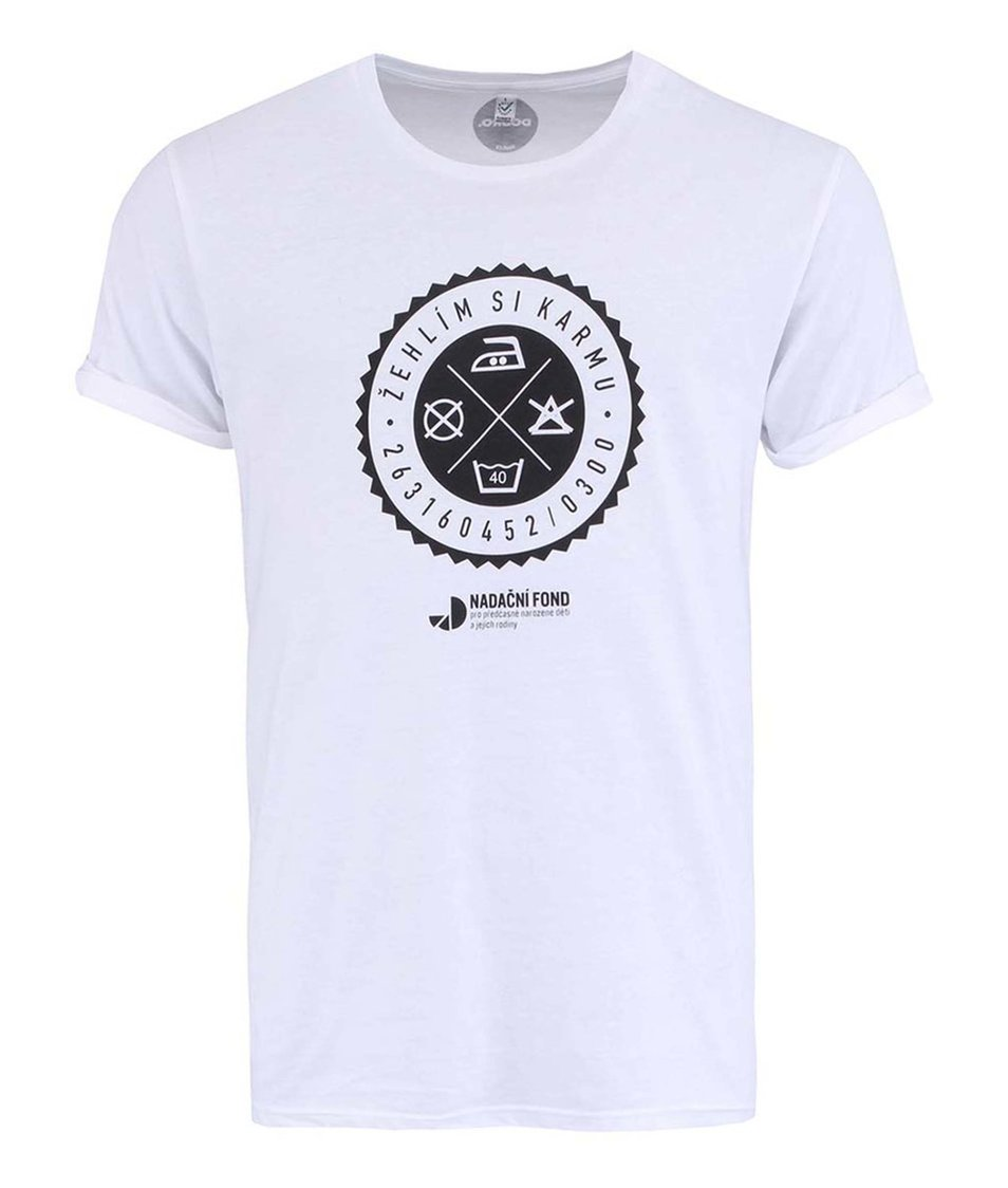 """""""Dobré"""" bílé pánské triko pro Nadační fond pro předčasně narozené děti a jejich rodiny"""