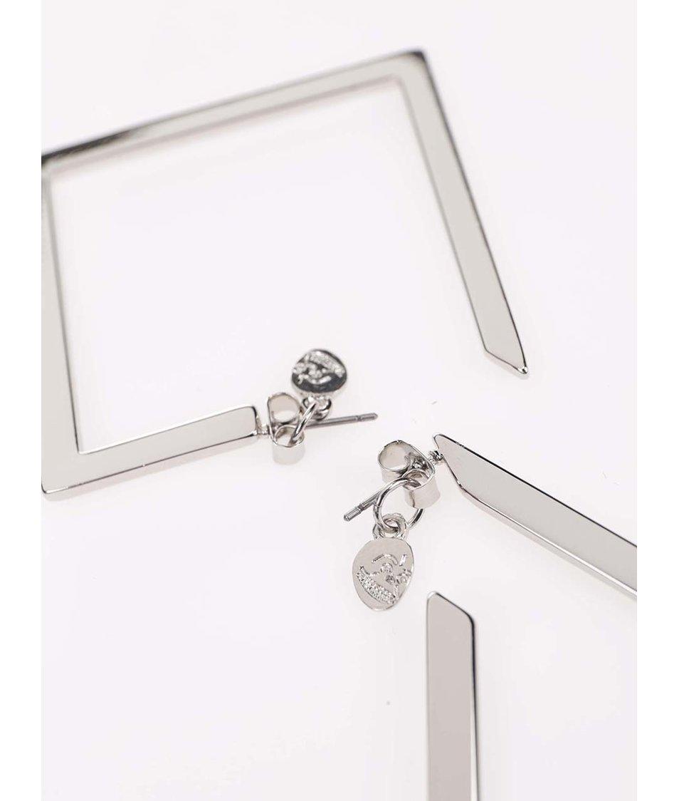 Geometrické náušnice ve stříbrné barvě Cheap Monday Geo