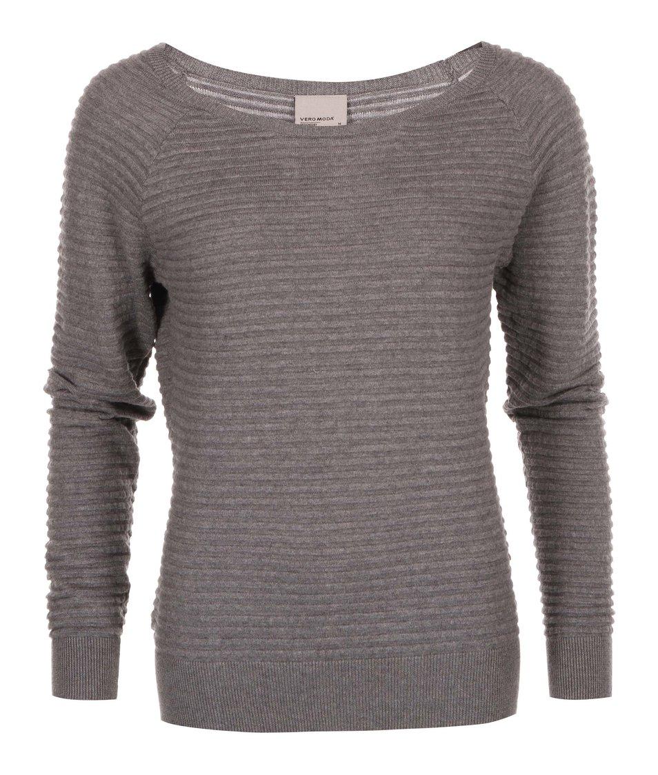 Šedý svetr s knoflíky na zádech Vero Moda Forever