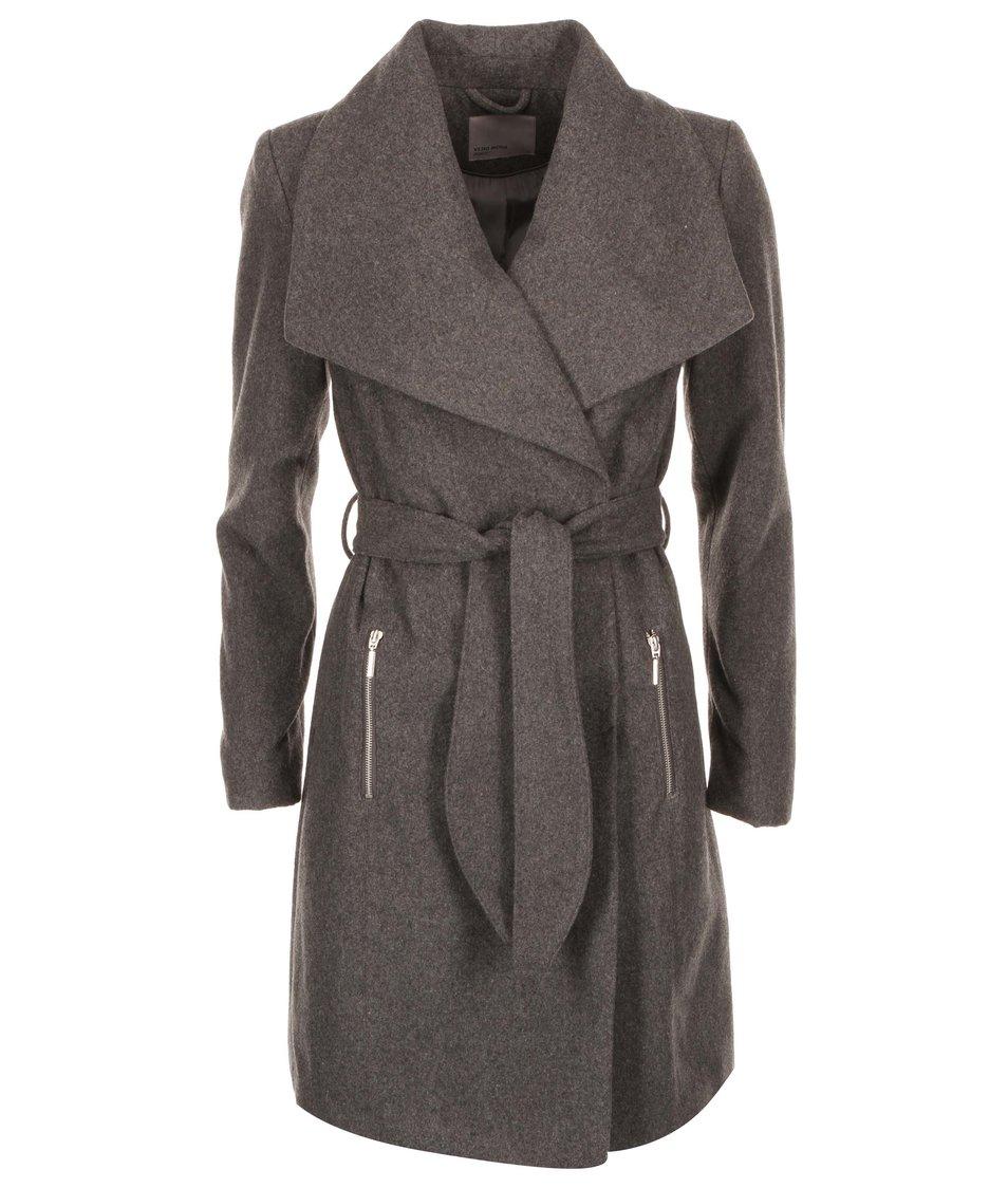 Tmavě šedý kabát Vero Moda Kate