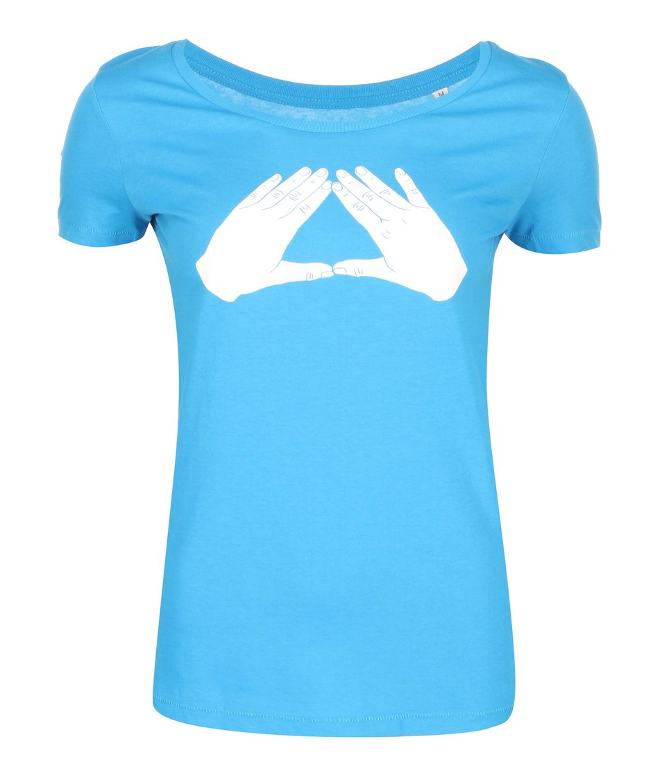 Modré dámské tričko ZOOT Originál Trojúhelník