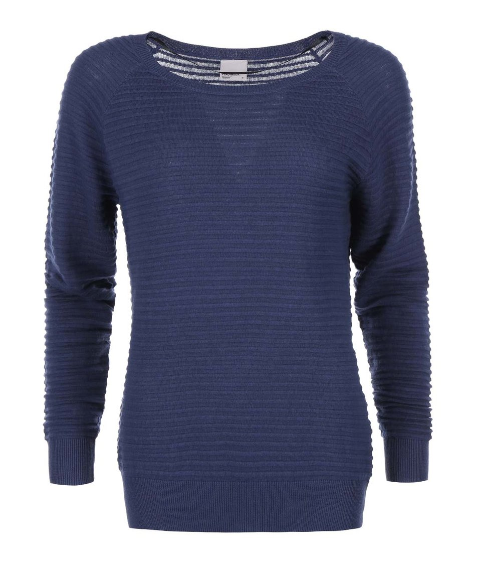 Modrý vroubkovaný svetr Vero Moda Forever