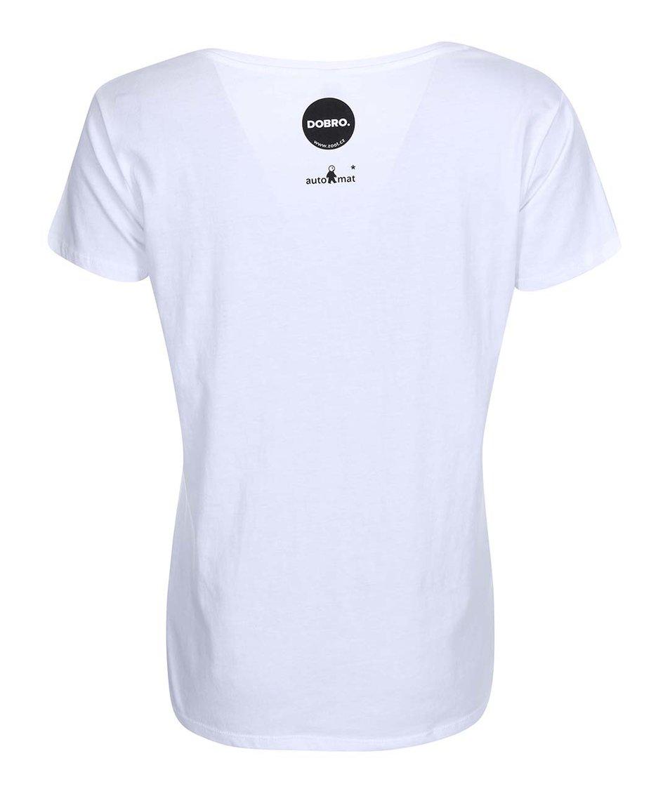 """""""Dobré"""" bílé dámské tričko Zažít město jinak"""