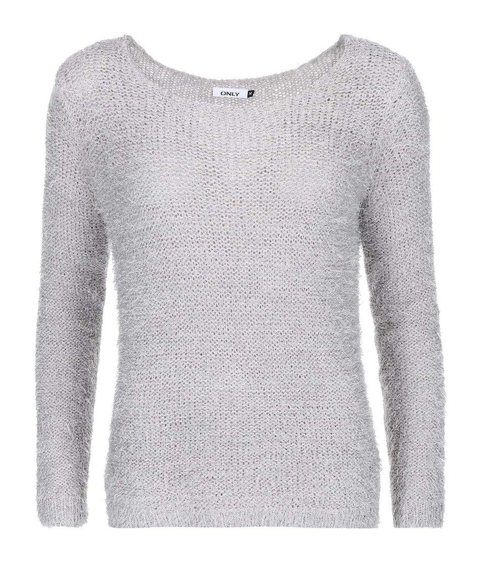 Šedý chlupatý svetr ONLY Perfect