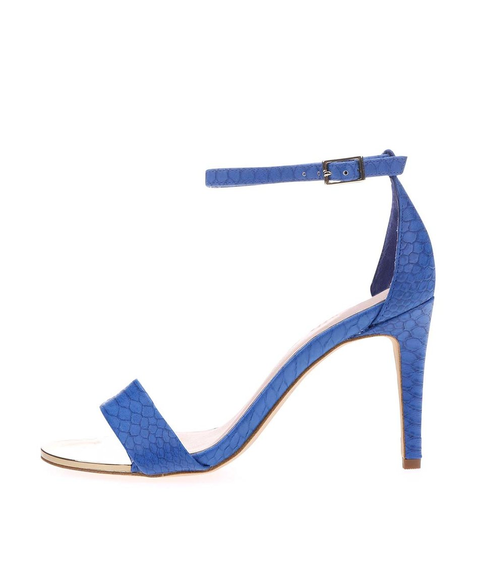Modré páskové sandálky na podpatku s kovovým detailem ALDO Ridia