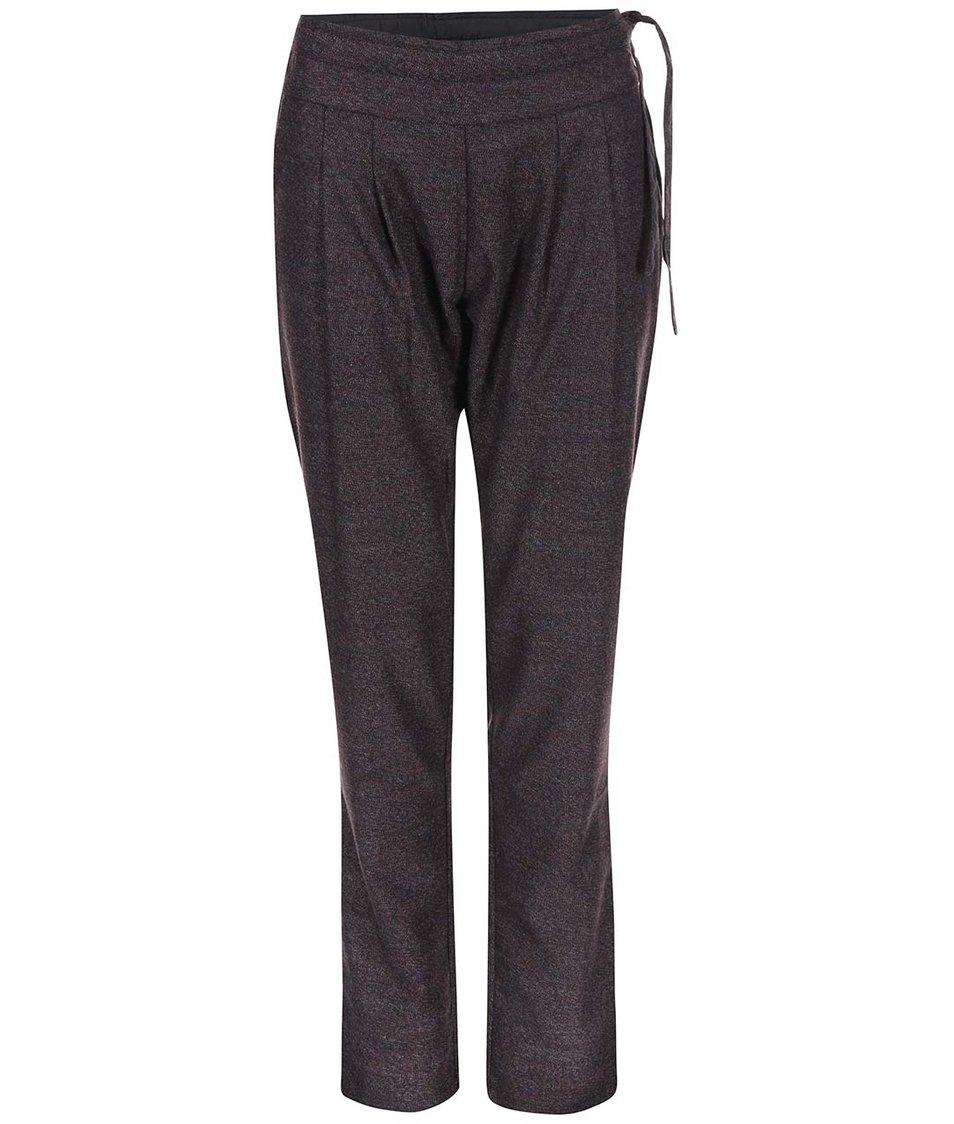 Vínovohnědé volnější kalhoty Skunkfunk Rhonda