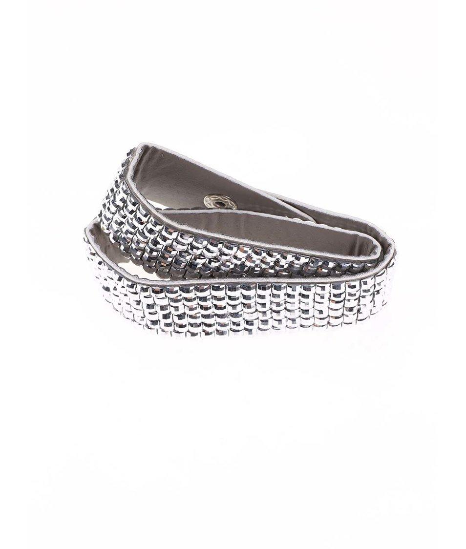 Páskový náramek v stříbrné barvě Pieces Rhinia