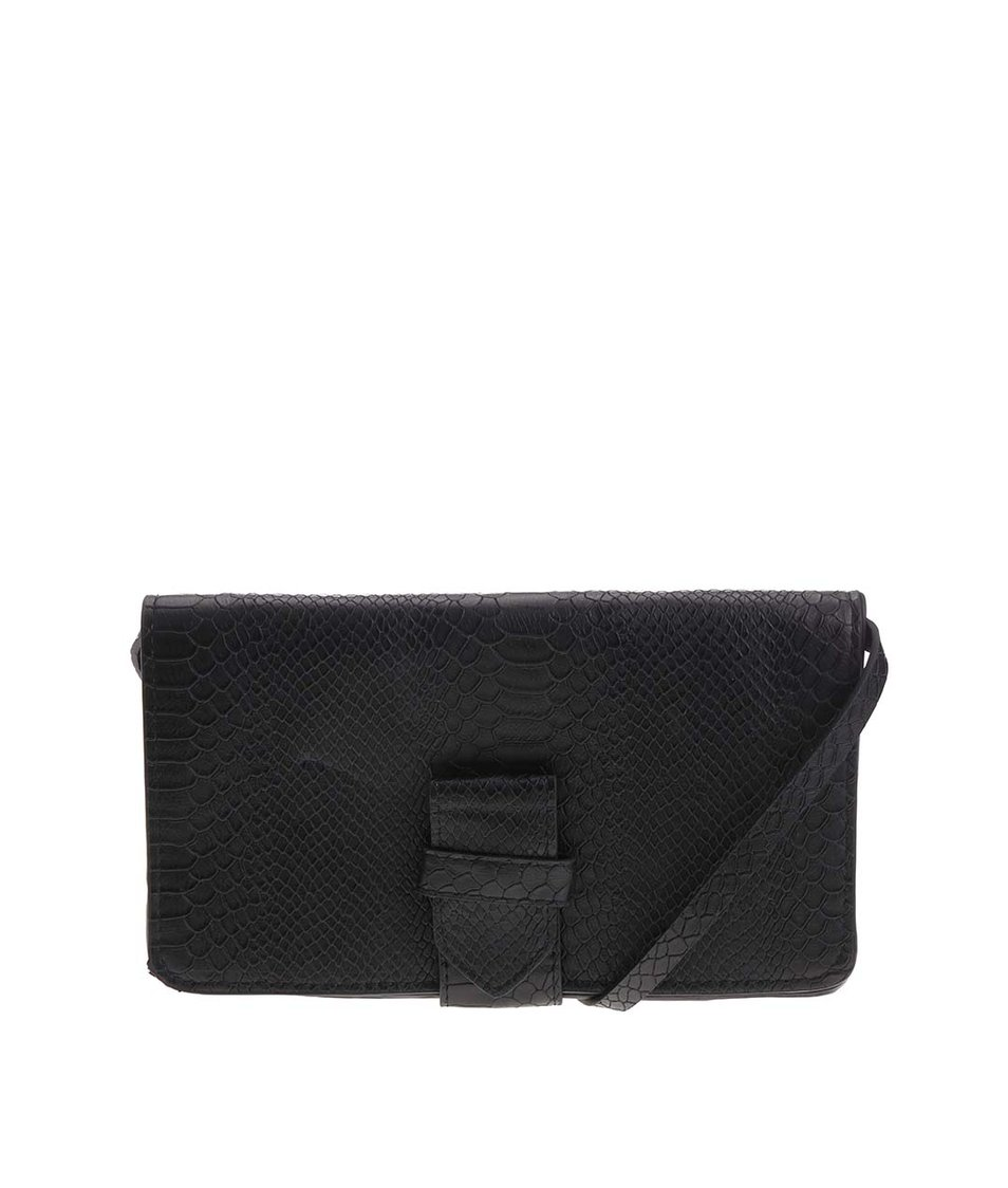 Černá menší kabelka Pieces Velvet