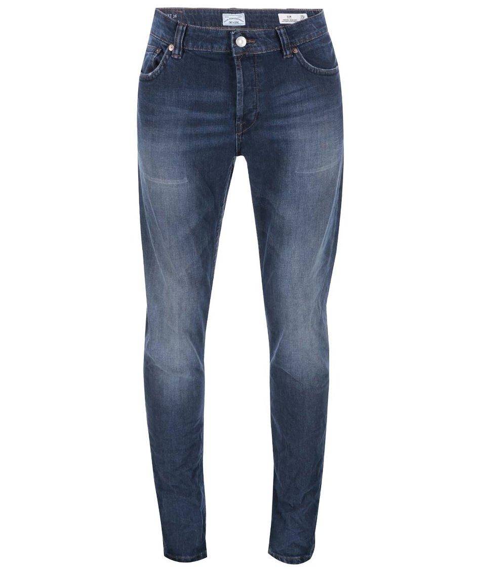 Tmavě modré slim džíny ONLY & SONS Loom
