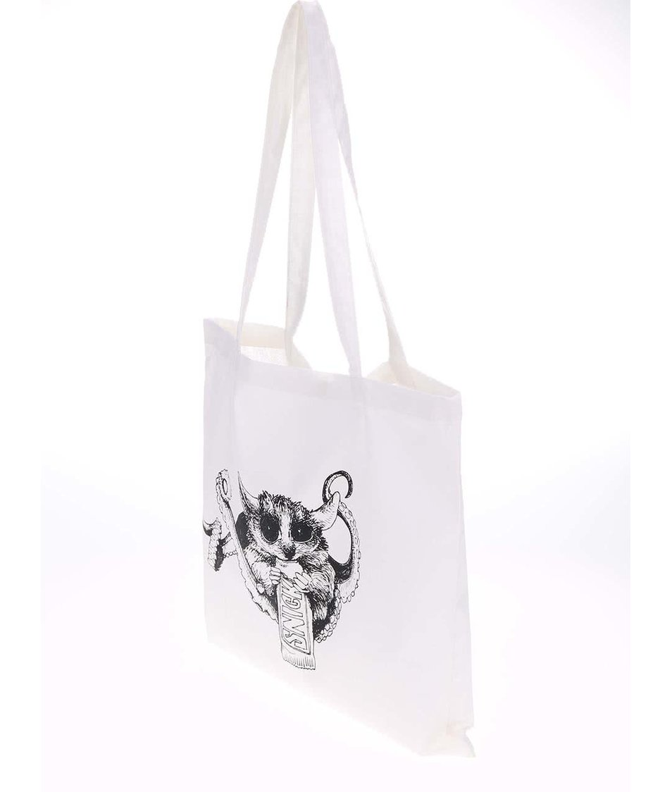 Bílá plátěná taška ZOOT Originál Snickers