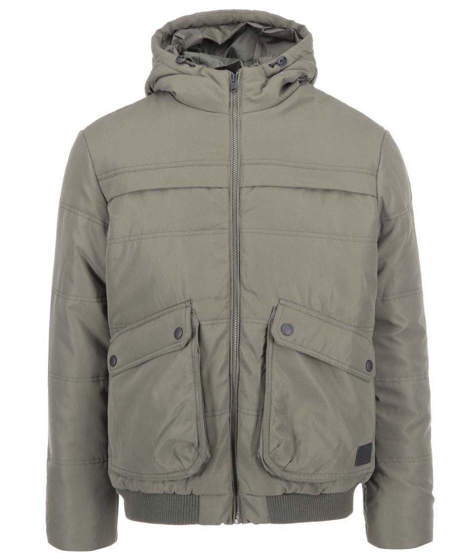 Khaki bunda s kapucí Jack & Jones Nordic