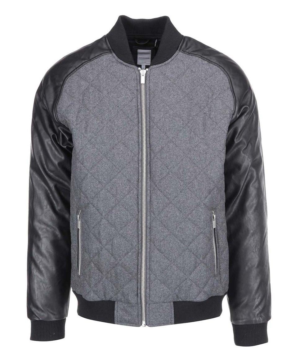 Černo-šedá bunda Lindbergh