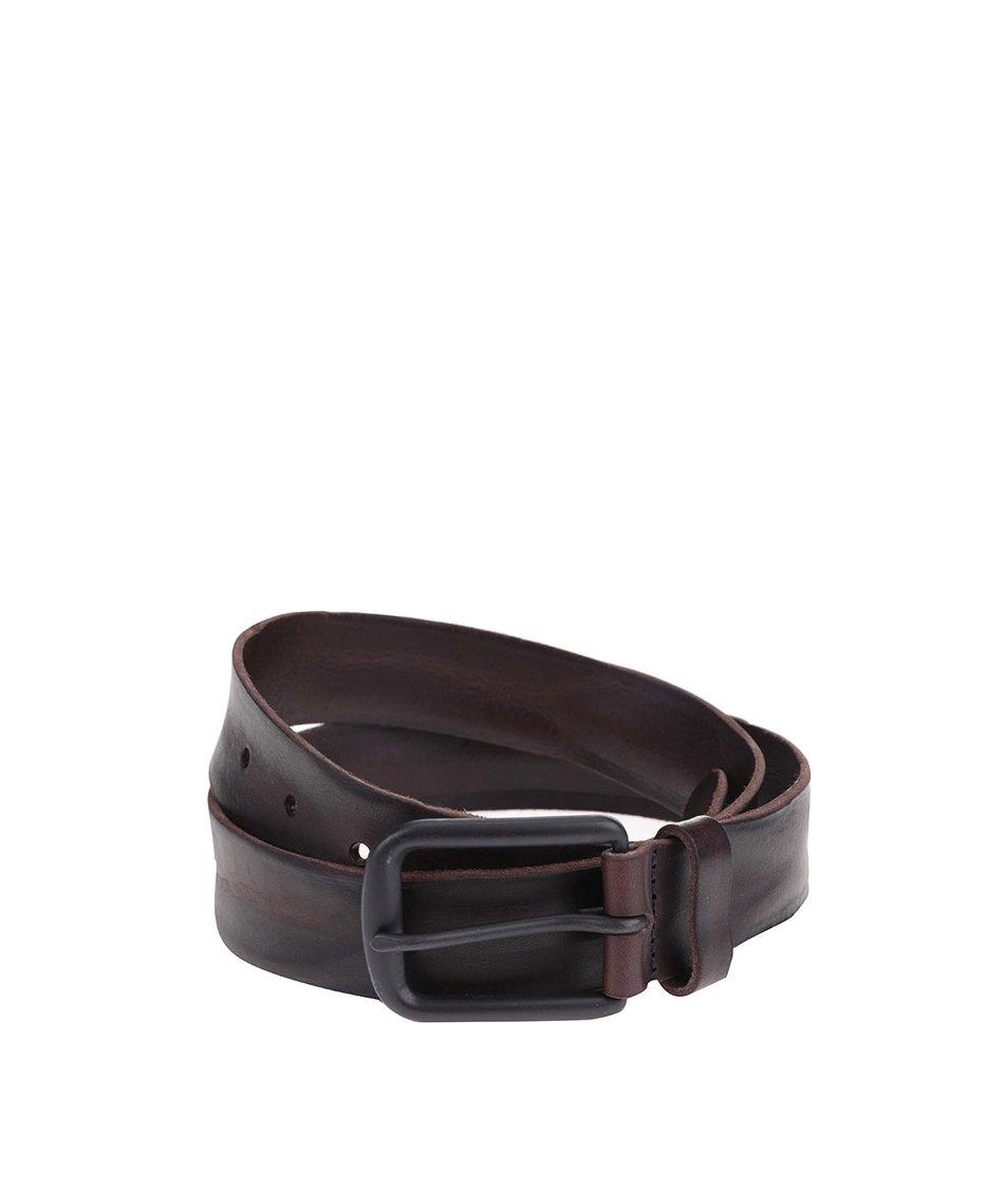 Černý kožený pásek Jack & Jones Brice