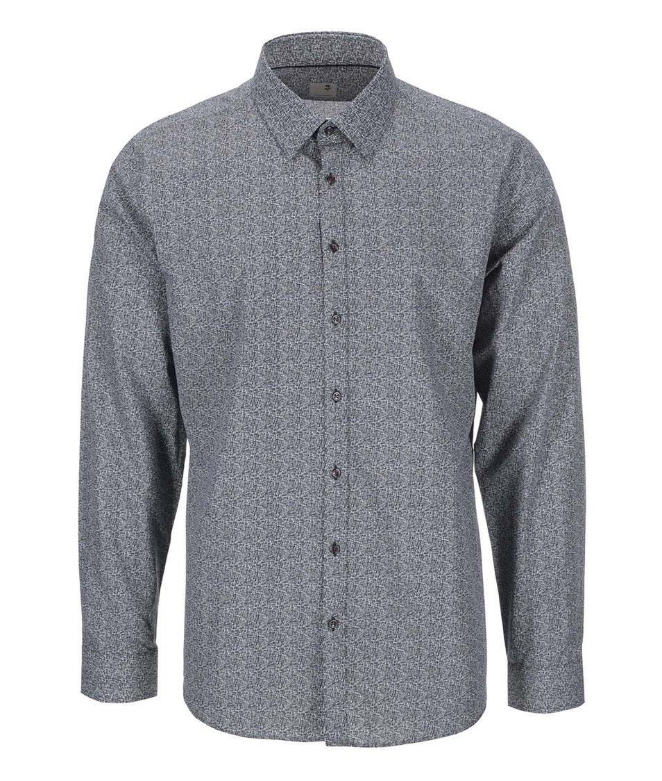 Tmavě šedá vzorovaná košile Seidensticker Modern Kent