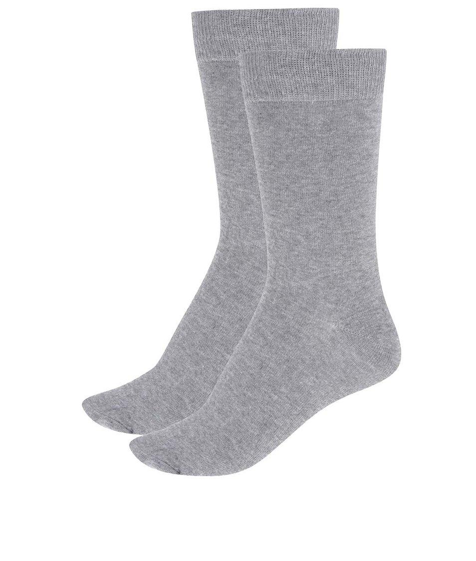 Sada dvou šedých ponožek Selected Homme Earl
