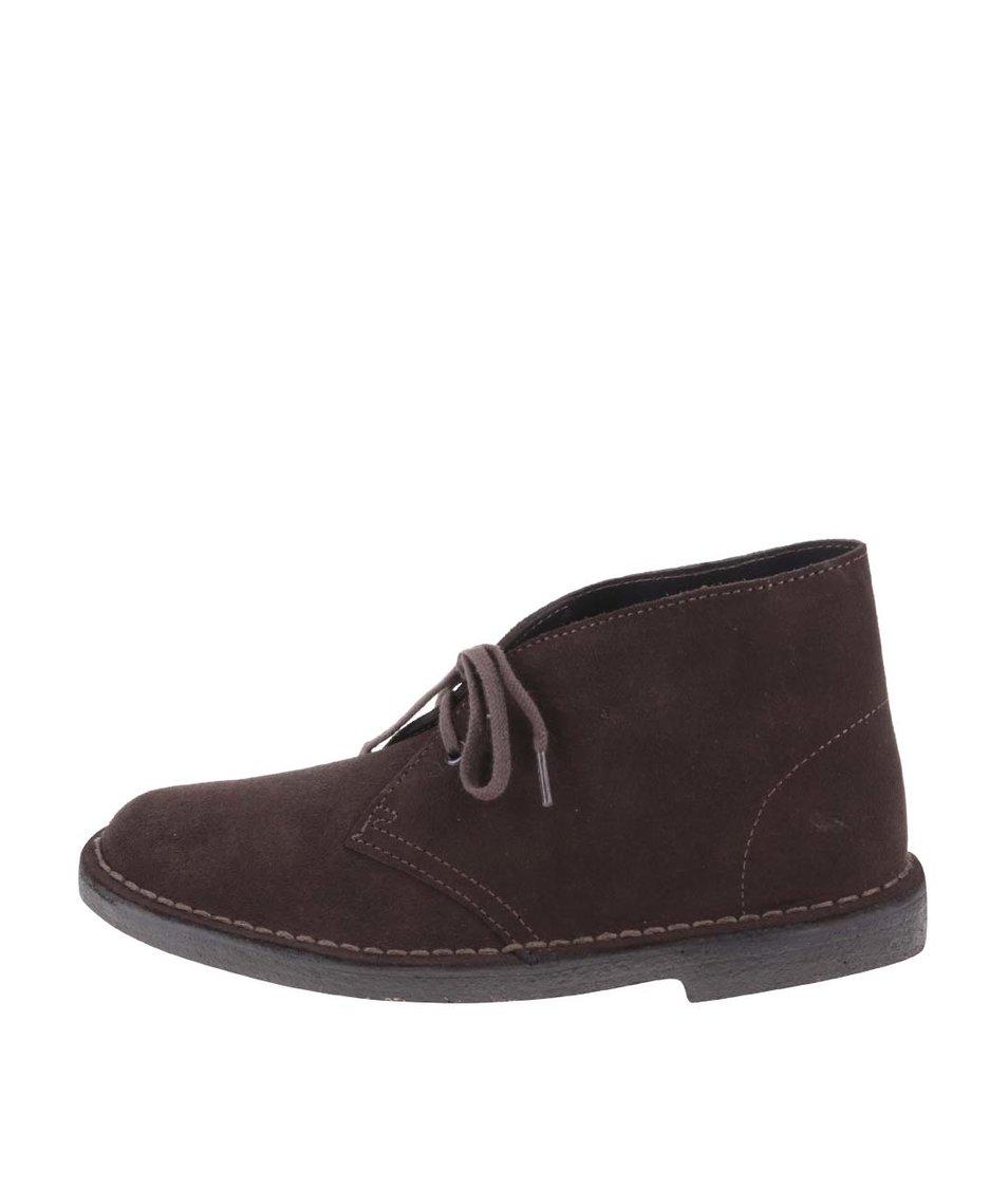 Hnědé dámské kožené kotníkové boty Clarks Desert Boot
