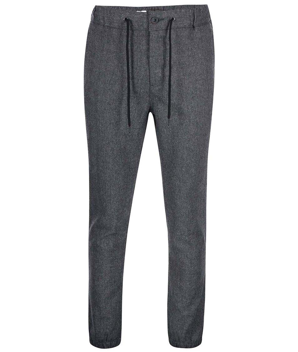 Šedé vlněné kalhoty Casual Friday by Blend