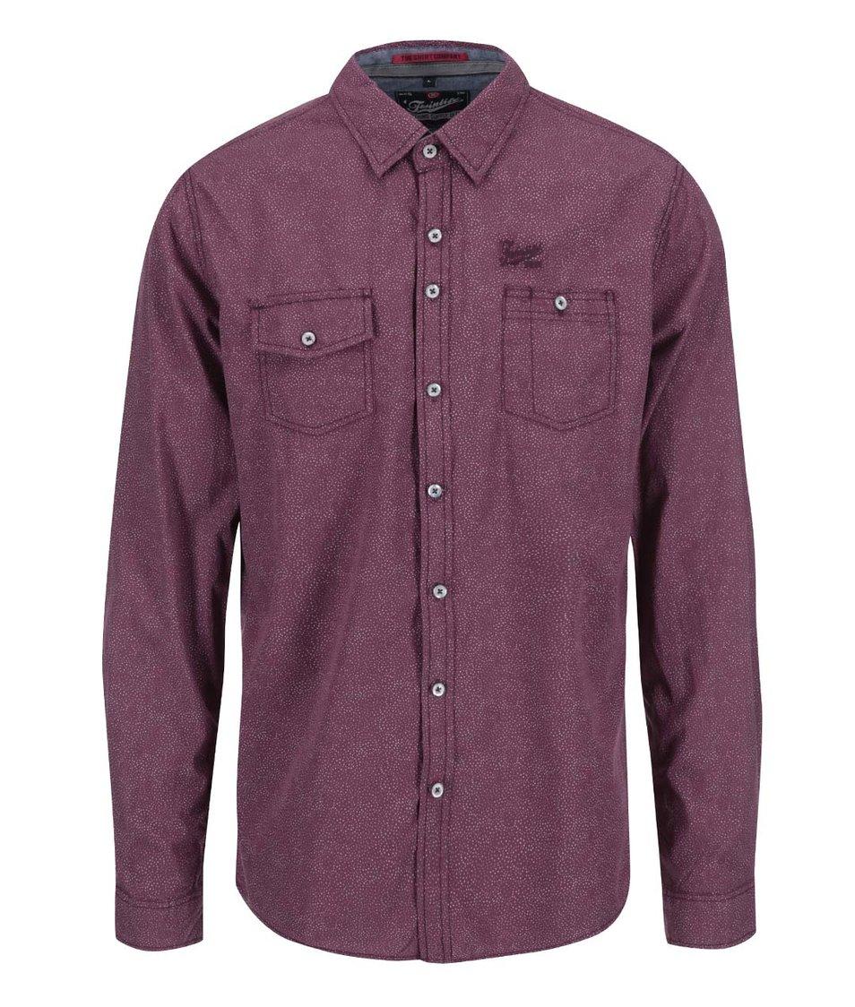 Vínová regular fit košile Twinlife