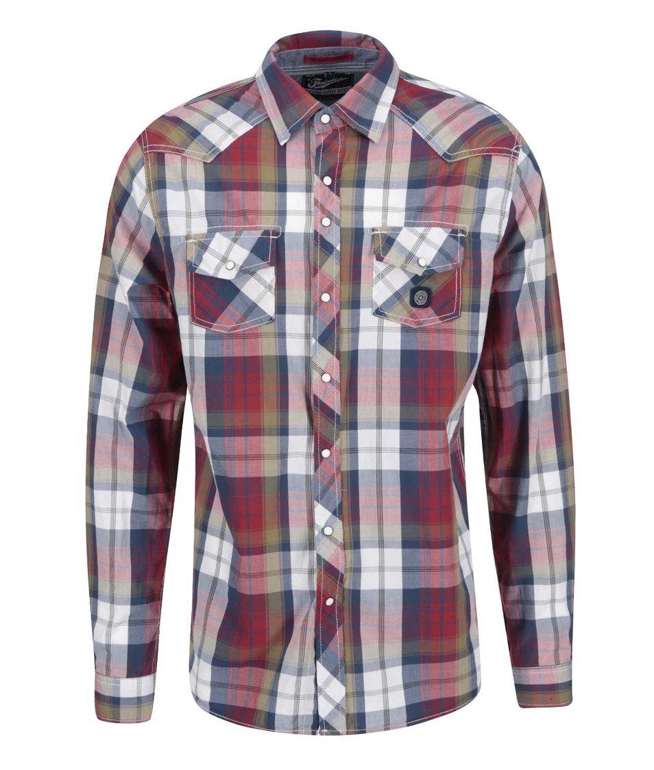 Barevná kostkovaná regular fit košile Twinlife