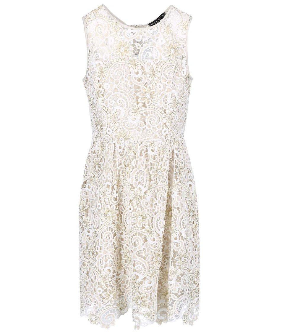 Krémové krajkové šaty Dorothy Perkins