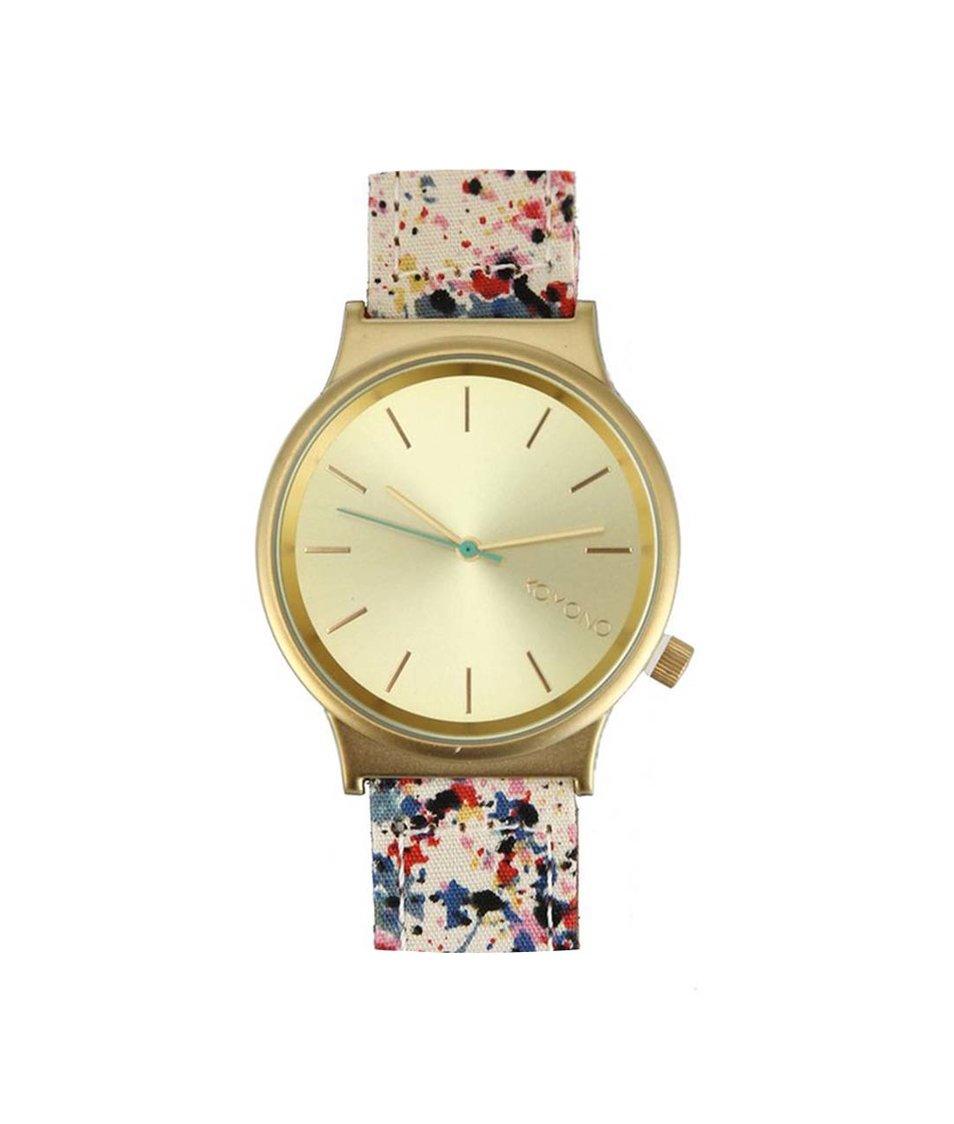 Barevné dámské hodinky Komono Wizard Print