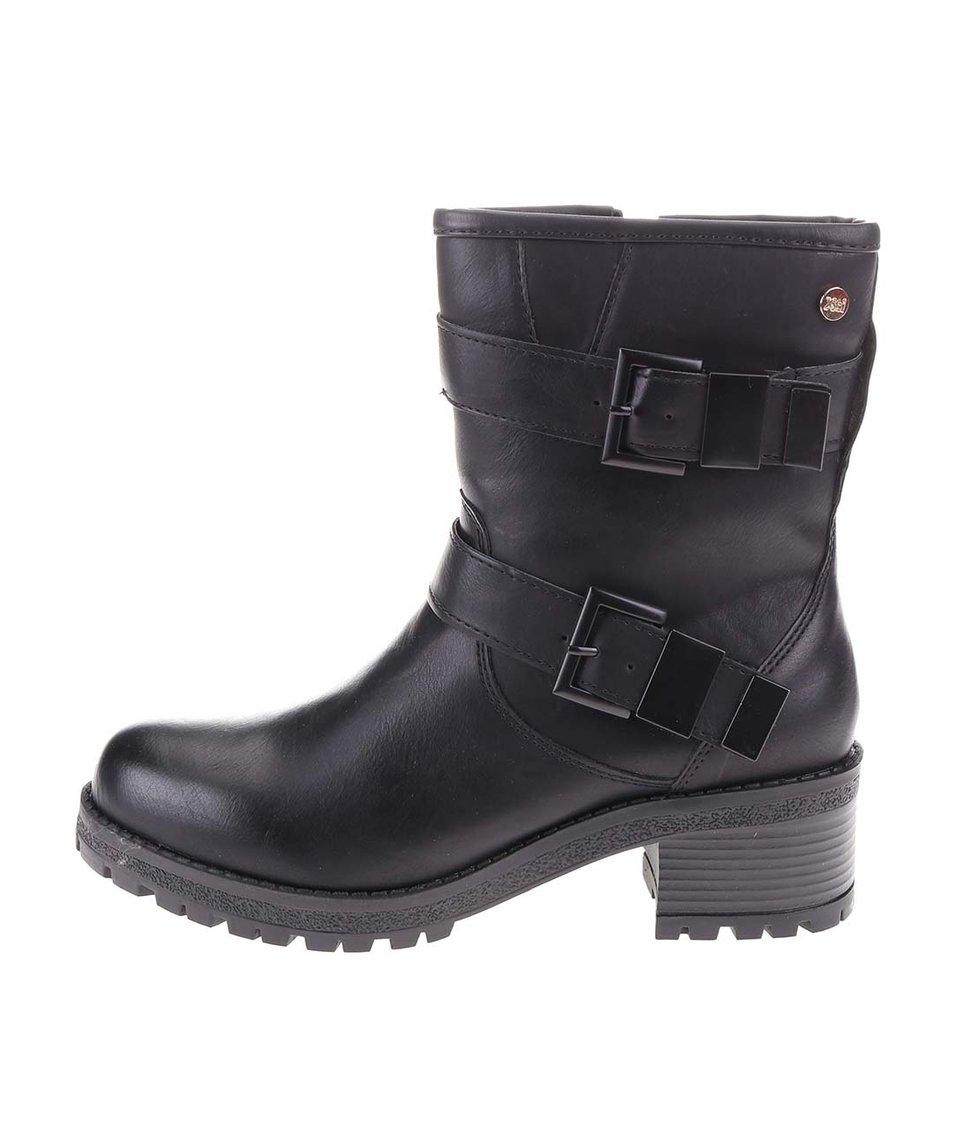 Černé vyšší boty s přezkami Xti