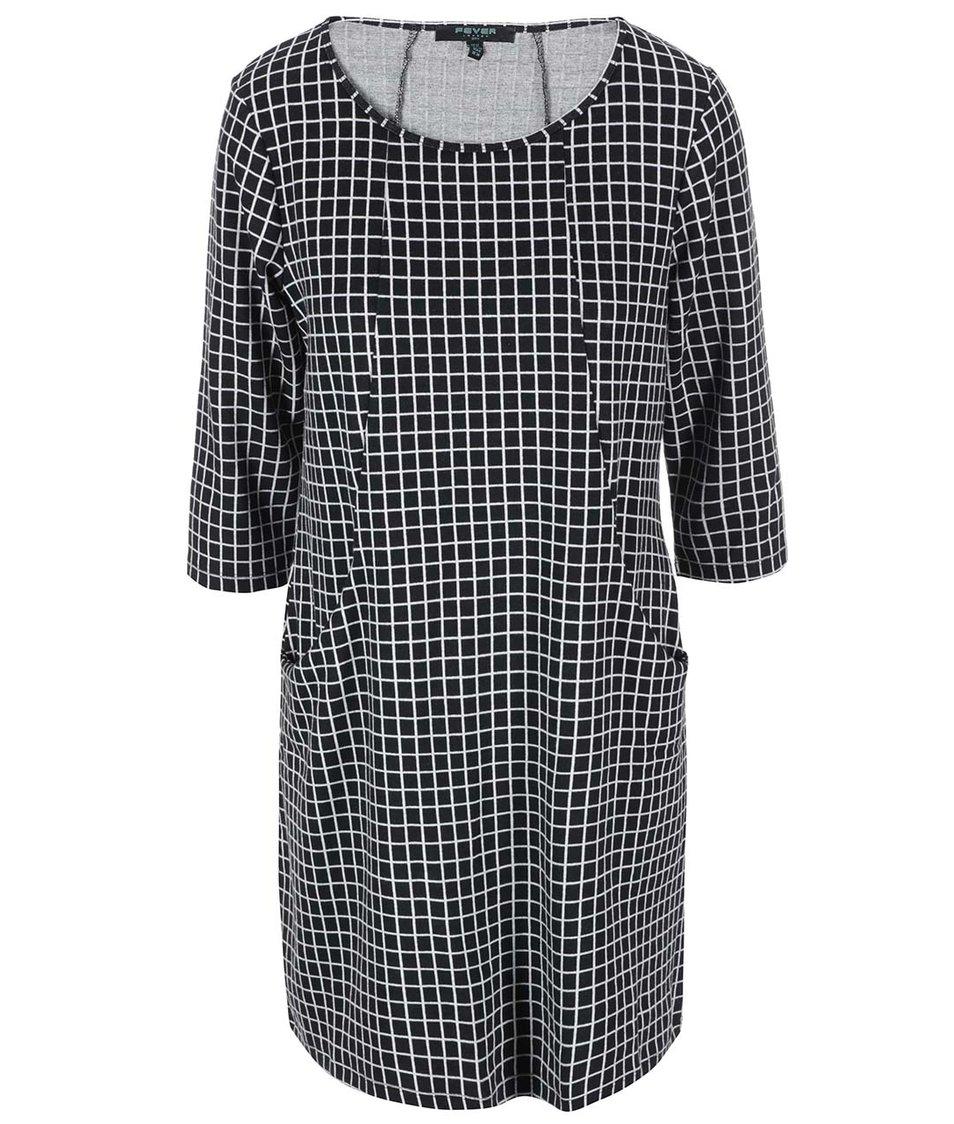 Černo-bílé kostkované šaty Fever London Brittany